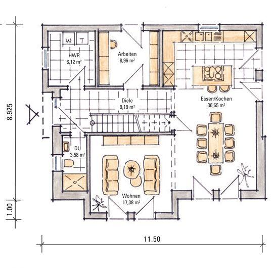Kern Haus Dresden: Musterhaus Madeleine - Erdgeschoss