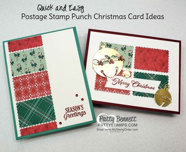 Postage For Christmas Cards 2020 Postage Stamp Punch Christmas Card Ideas in 2020 | Christmas cards