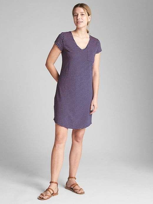 fb5baf569f0 Gap Short Sleeve Pocket T-Shirt Dress | Products | Shirt dress ...