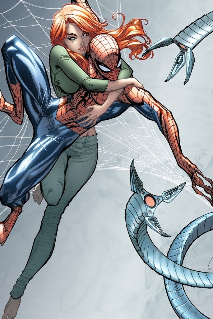 Spider-Man and Mary Jane by J. Scott Campbell