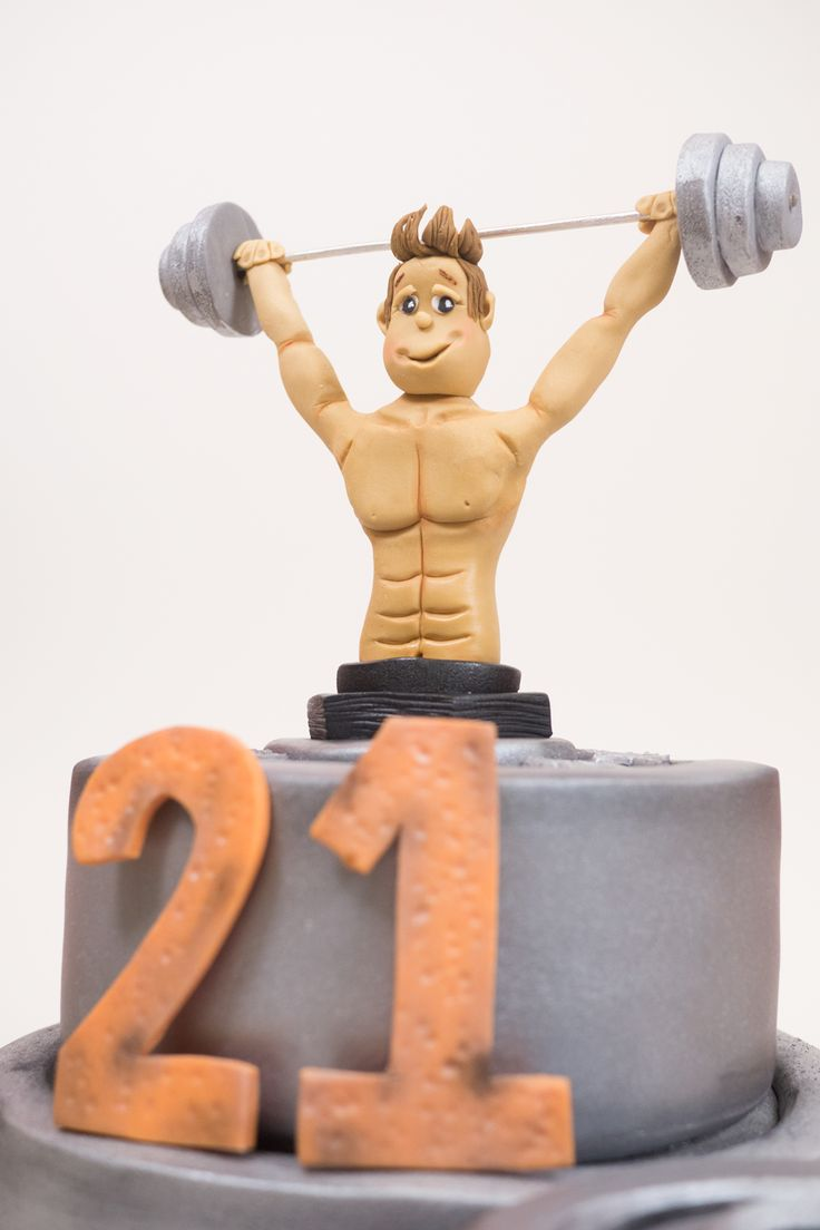 Weightlifting Cake - Paul Bradford Sugarcraft School