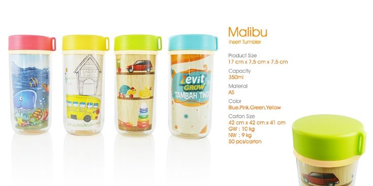 Malibu tumbler insert paper, a great merchandise for your child birth party.