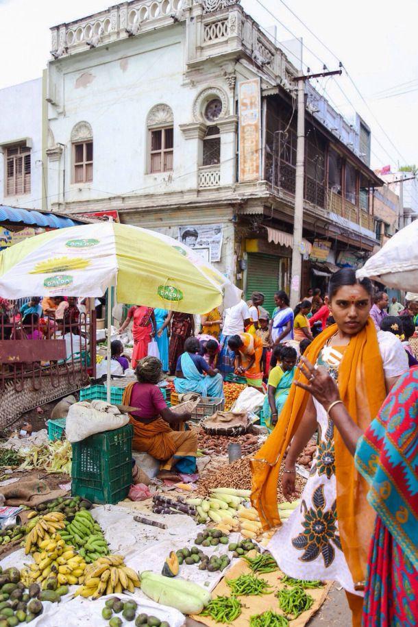 Food Markets Madurai India
