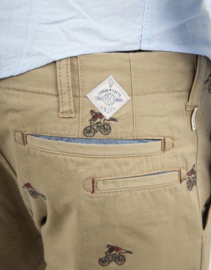 Paul Smith Embroidered Pants (Detail) Bicycle bike cycle sykkel bicicleta vélo bicicletta rad racer wheels fashion