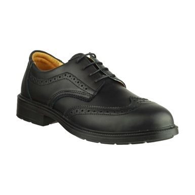 Amblers FS44 Executive Safety Brogue Shoes have a smooth leather upper that makes them ideal shoes for both uniform or office use.