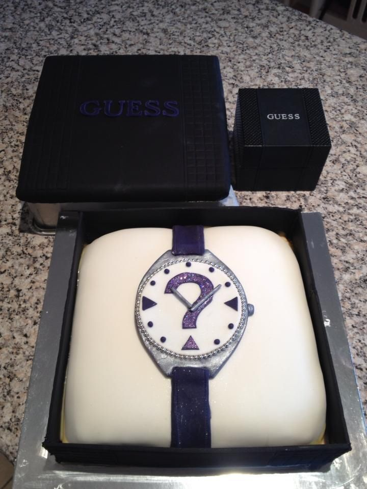I love Guess watches so I made one for my birthday cake!