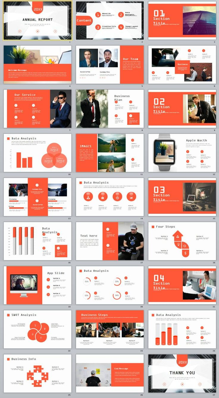 27+ Creative infographics annual report PowerPoint Template