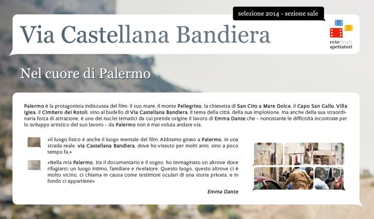 Un set a cielo aperto nel cuore di Palermo: Via Castellana Bandiera di Emma Dante