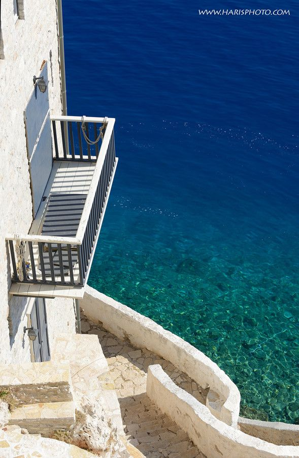 View to the deep blue crystal waters of Kastelorizo island, Dodecanese #kitsakis