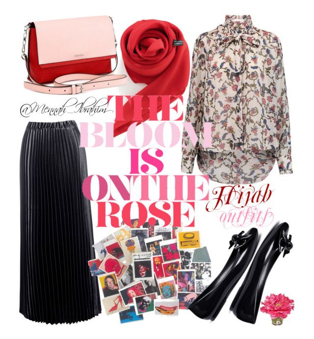 """""""#Hijab_outfits #modesty #Casual #feminine #RedRose"""" by mennah-ibrahim on Polyvore featuring See by Chloé, Sans Souci, Andy Warhol, Calvin Klein, Melissa and The French Bee"""