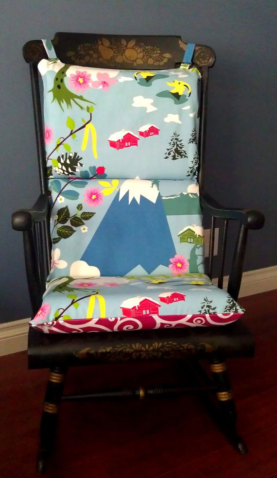 Reversible Rocking Chair Cushion  Pink And Blue