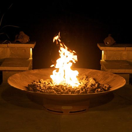 Asia Gas Outdoor Fire Pit | WoodlandDirect.com: Outdoor Fireplaces: Fire Pits - Gas, Fire Pit Art