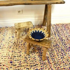 tapis azilal beige pois bleus et rouges tapis azilal. Black Bedroom Furniture Sets. Home Design Ideas