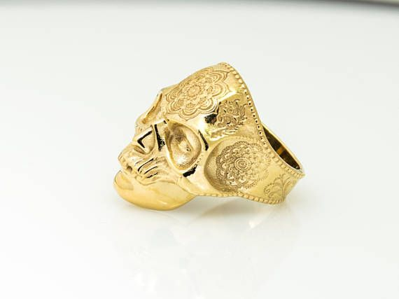 Gold Skull Ring, Man Jewelry, Fine Goldsmith Made by Danelian. 18k gold filled or solid gold selection. - ALL RING SIZES AVAILABLE! danelianjewelry.etsy.com