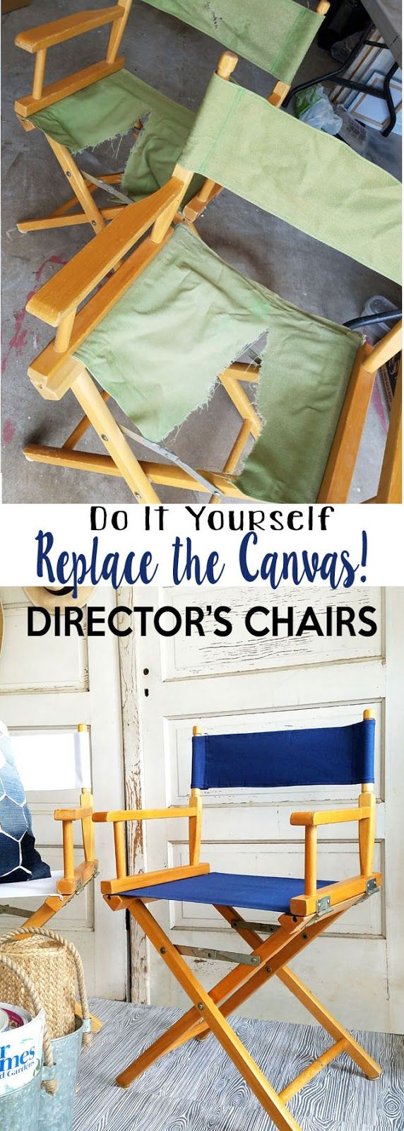 Director Chair Pads - How to replace the canvas on a director s chair