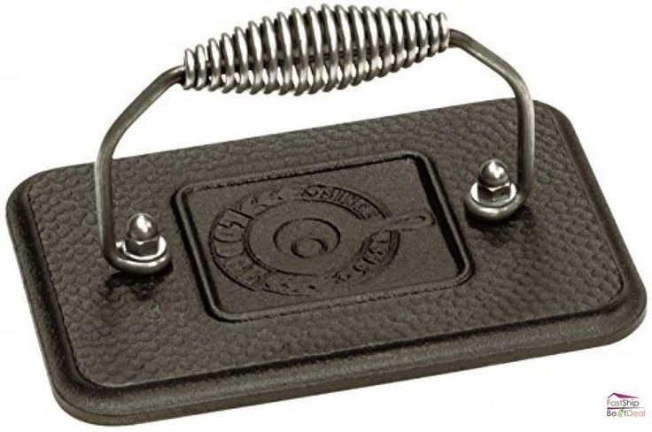 Lodge Pre-Seasoned Cast Iron Grill Press Rectangular Kitchen Accessories Tools #Lodge