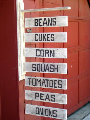 Hand Painted Vintage Farm Stand Hanging Sign