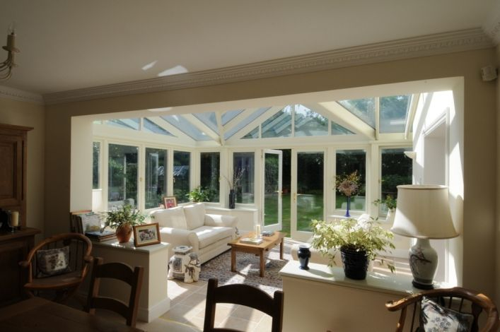 open plan conservatory and dining room conservatory