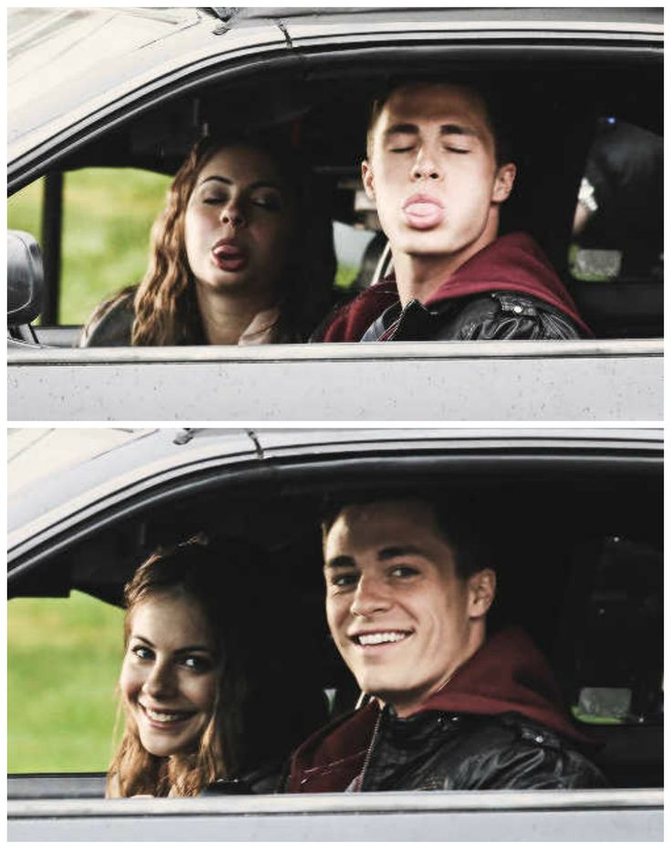 Willa Holland & Colton Haynes - Arrow They're so cute!