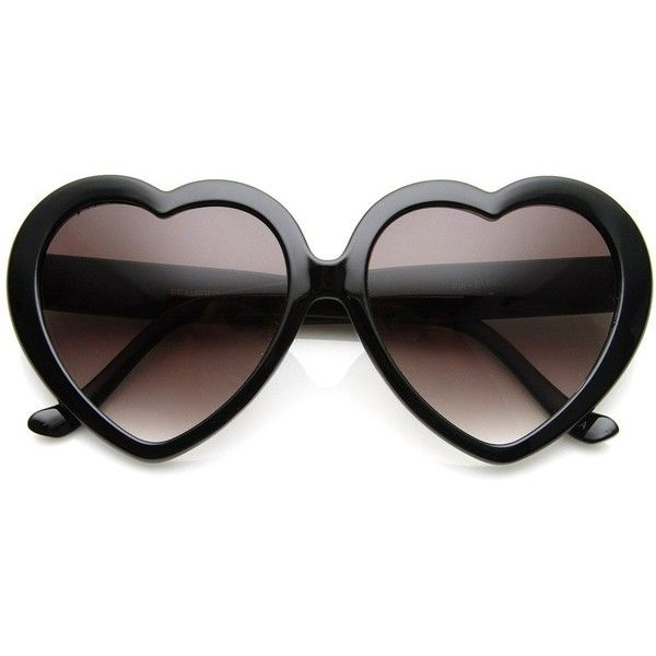 Large Oversized Womens Heart Shaped Sunglasses Cute Love Fashion... (€8,87) ❤ liked on Polyvore featuring accessories, eyewear, sunglasses, glasses, hearts, over sized sunglasses, heart sunglasses, black heart sunglasses, black glasses and oversized eyewear