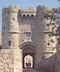 Carisbrooke Castle near Newport Isle of Wight ... constructed in the 11th Century.