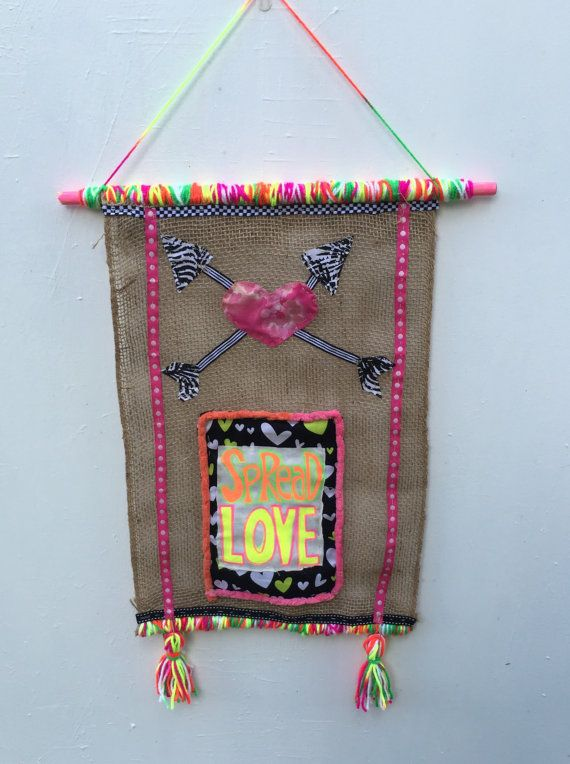 Hey, I found this really awesome Etsy listing at https://www.etsy.com/listing/473594623/spread-love-yarn-bombed-burlap-wall