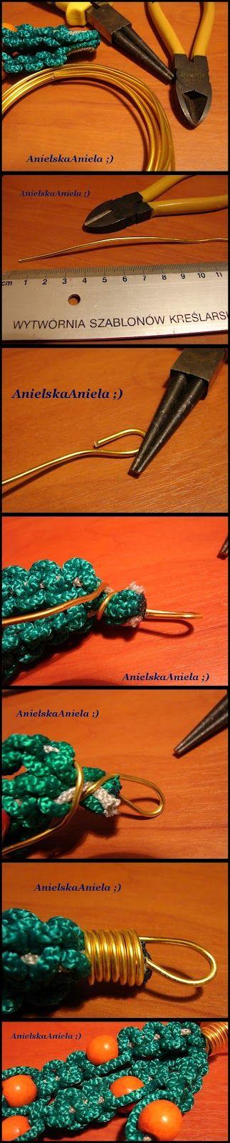 DIY..Tutorial..naszyjnik..Makrama...style ...How to Wire Wrap End Caps ...