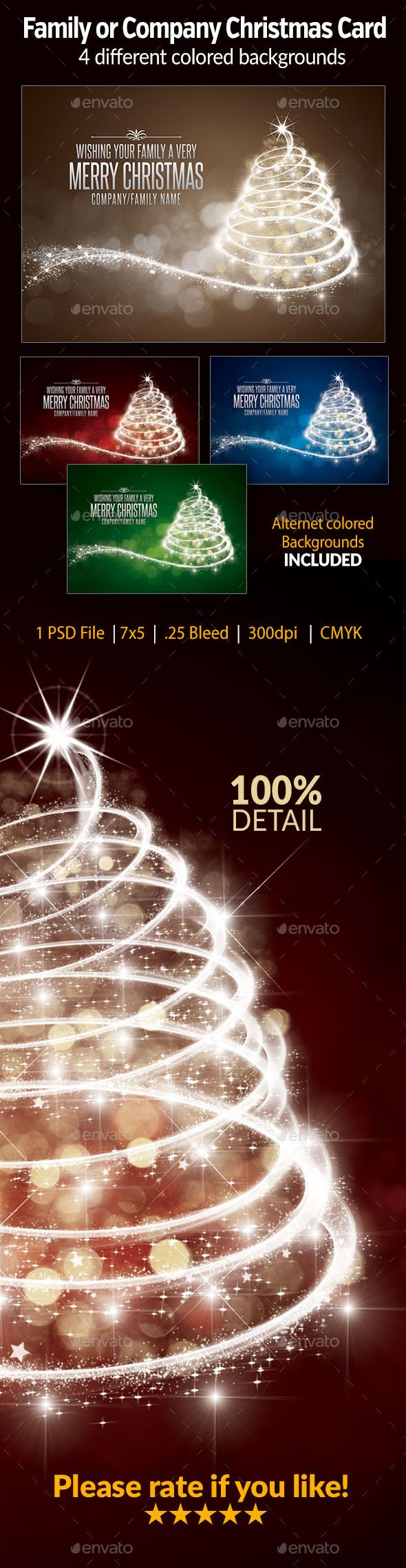 Family or company christmas card live preview and download http graphicriver