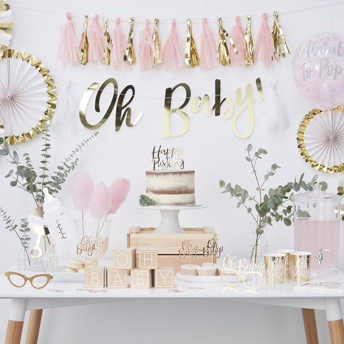 Our new range of baby shower supplies has arrived! These gorgeous pink and gold party range is perfect for a stylish and modern baby shower. Pick it up at partydelights.co.uk where you can browse even more baby shower ideas.