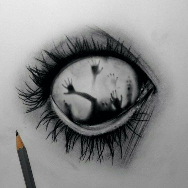 art, black, color, dibujo, miedo, psycho, psytrance, terror