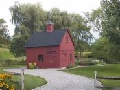 Love this little red barn!