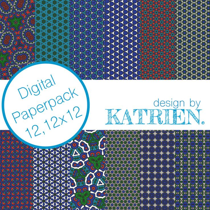 Digitale papier Pack, digitale Scrapbook papier, digitale patronen, Instant download, blauw/groen/roze (0004) door DesignbyKatrien op Etsy https://www.etsy.com/nl/listing/515386733/digitale-papier-pack-digitale-scrapbook