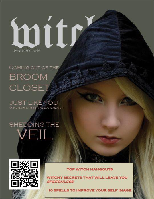 Witch Magazine, fake magazine, witch, witchcraft, magic, magazine