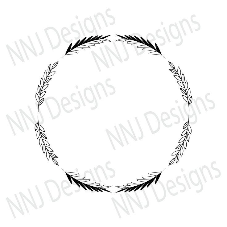 Download Laurel Wreath SVG Round Circle Monogram Frame Leaves Leaf ...