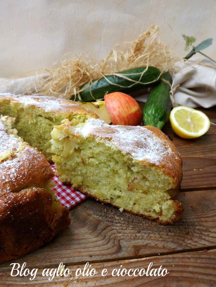 torta zucchine mele e limone