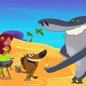 Tubarão e crocodilo brincando com bola | ataque de tubarão dinossauro | desenhos animados infantil - YouTube