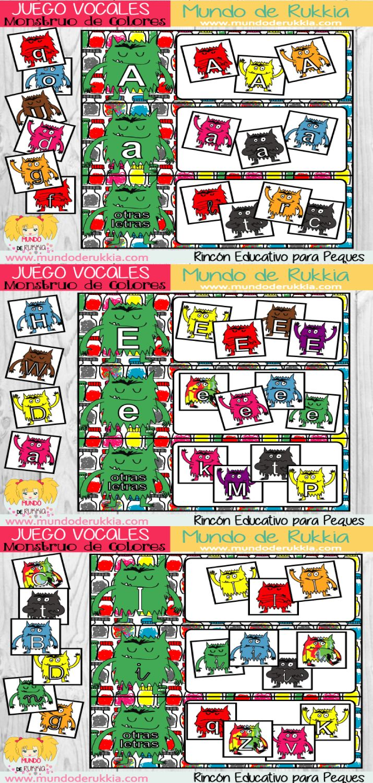 lectoescritura, juego de lectoescritura, monstruo de colores, actividades de cuento, the color monster, aprender vocales, monstruo de colores actividades, monstruo de colores juego, monstruo de colores manualidad, ficha letras, aprender letras, ficha lectoescritura, juego letras, the color monster game, the color monster printables, the color monster crafts, monstruo de colores imprimible