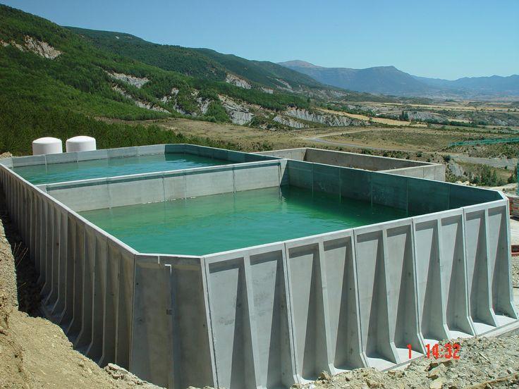 Tanque para agua potable prefabricado en concreto victoria for Cisternas de cemento