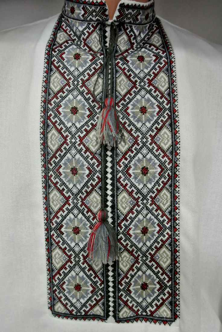 Ukrainian embroidery handmade vyshyvanka for men The