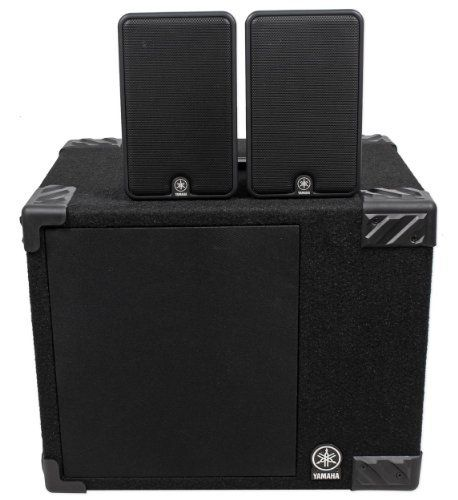 """Brand New Yamaha MS50DR Electronic Drum Monitor System with 8"""" 50 Watt Bass Reflex Subwoofer and 20 Watt 3-Way Satellites Speakers by Yamaha. $329.99. Brand New Yamaha MS50DR Electronic Drum Monitor System with 8"""" 50 Watt Bass Reflex Subwoofer and 20 Watt 3-Way Satellites Speakers Features: 50-Watt woofer 3-way satellite speakers Simple to use Satellite Speakers: 4"""" woofer + 2"""" Midrange + 1"""" Tweeter Power Output: 20W/4ohm (x2) Dimensions: 127(w) x 106(d) x 205(h) mm ..."""