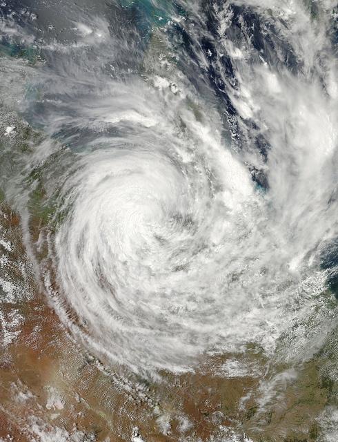 Giant Cyclone Yasi over Australia