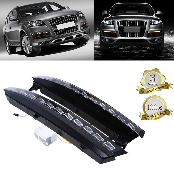 cool Amazing for 2007-2009 Audi Q7 4-Door Auto Car LED Daytime Running Light Lower Bumper DRL 2017 2018