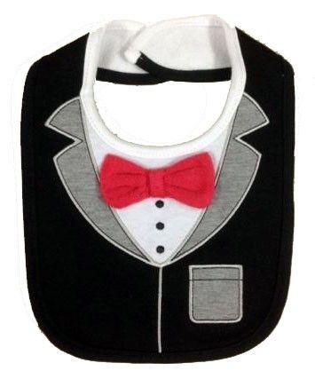 Tuxedo Bib    Condition  New      Black & Grey Colour Tuxedo Babies Boys Feeding Bib  Contact Letima House Baby Shop : Text & Whatsapp: +62-877-8080-6878  Blackberry Pin : BBM: 512B5D2E / 74B97998