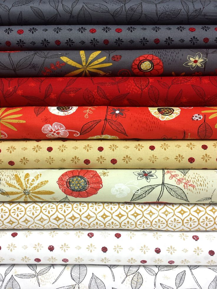 Clothworks, Lady Bug Blooms in FAT QUARTERS 10 Total ...