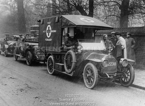 First Aid Nursing Yeomanry (FANYs) in ambulance