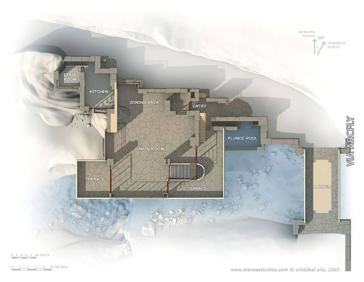 Planos 1 De La Casa De La Cascada De Frank Lloyd Wright | Casa De La  Cascada | Pinterest | Best Frank Lloyd Wright, Lloyd Wright And  Architecture Images ...