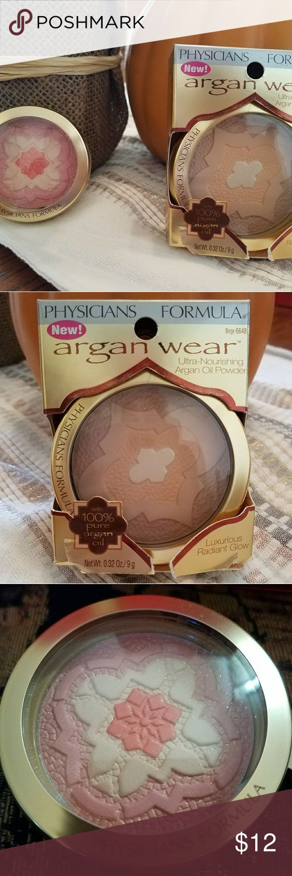 Physicians Formula Argan Wear Ultra nourishing argan oil powder- Beige 6648. NIP- package has rip Physicians Formula Makeup