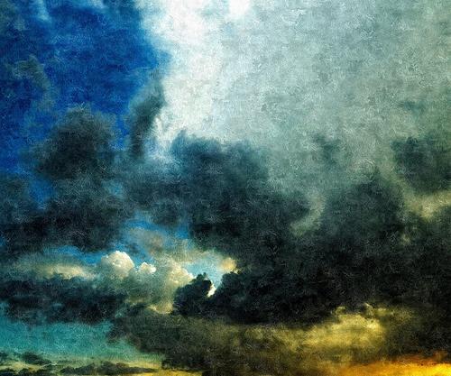 Fotografía atardecer Bogotano, retoque al óleo estilo clásico en FotoSketcher