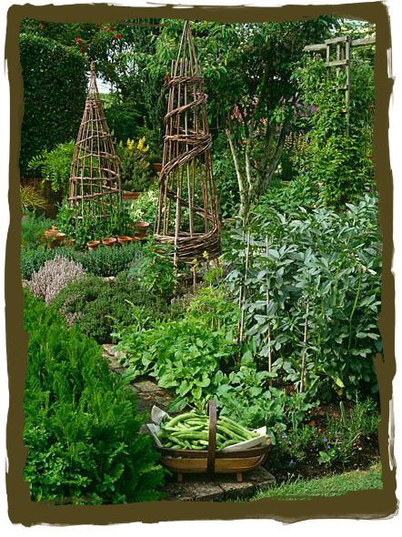 """""""A potager is a French-style ornamental kitchen garden. It is generally planned for a small space and formal in design, with mostly vegetables and fruit and some cut flowers. """""""