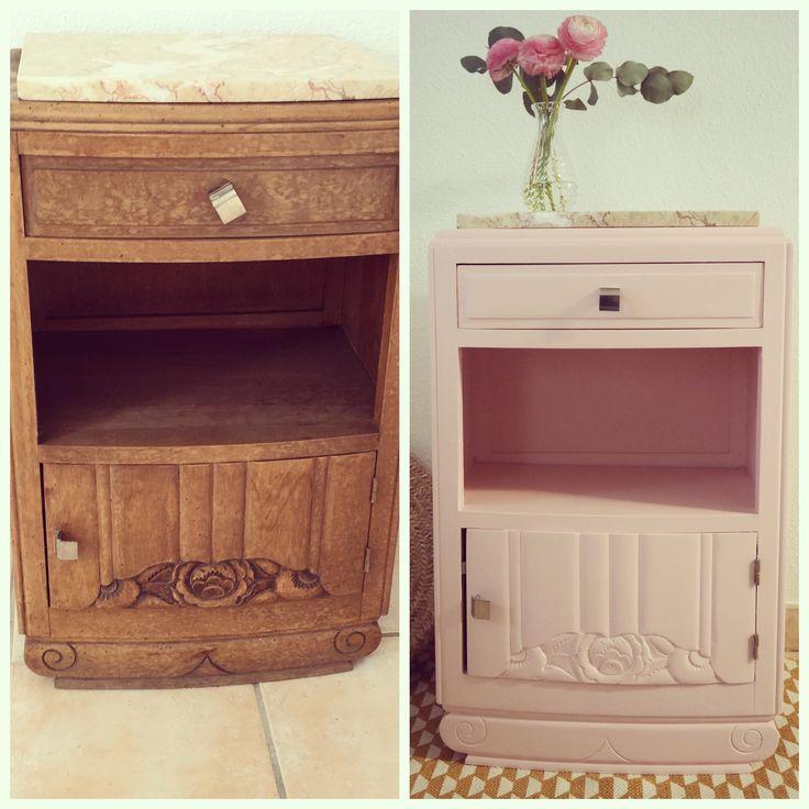 Avant/Après petit meuble vintage à retrouver sur mon blog